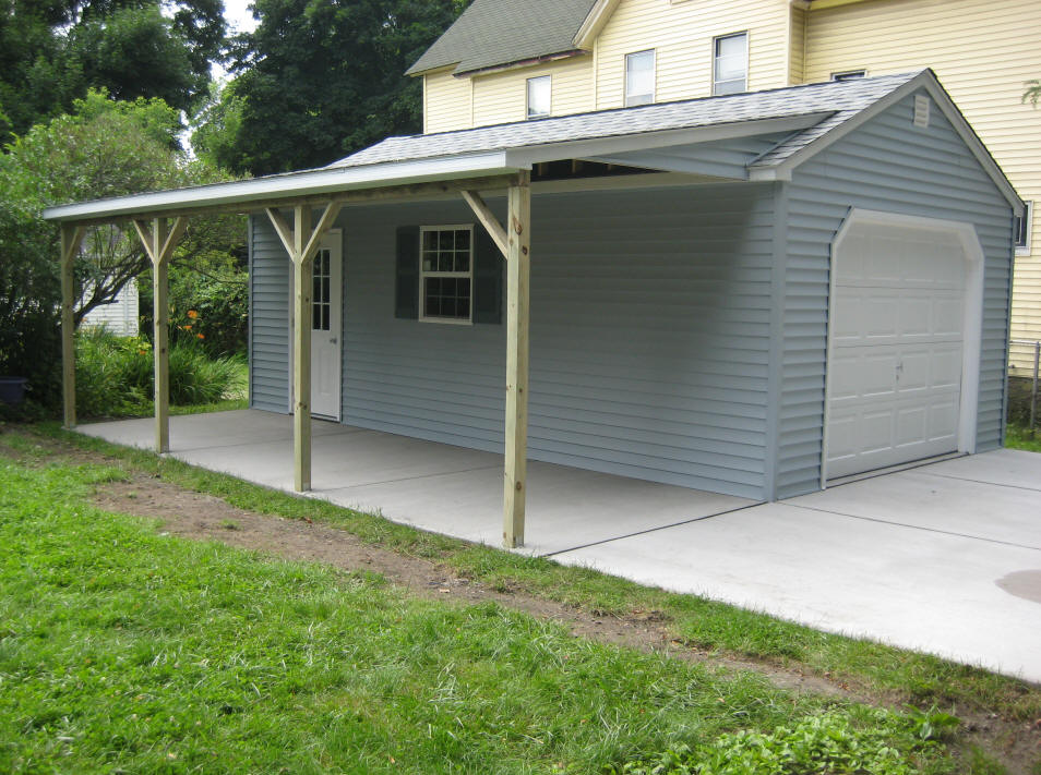 1 Car Garages Amish : Car detached garage