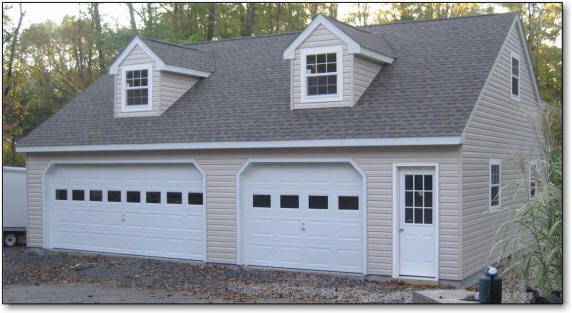 Amish road crew garage builders we build garages for for 36 x 36 garage with apartment